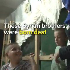 The story of how two young Syrian refugees got life-changing operations to allow them to hear for the first time. trib.al/9aqxzIC