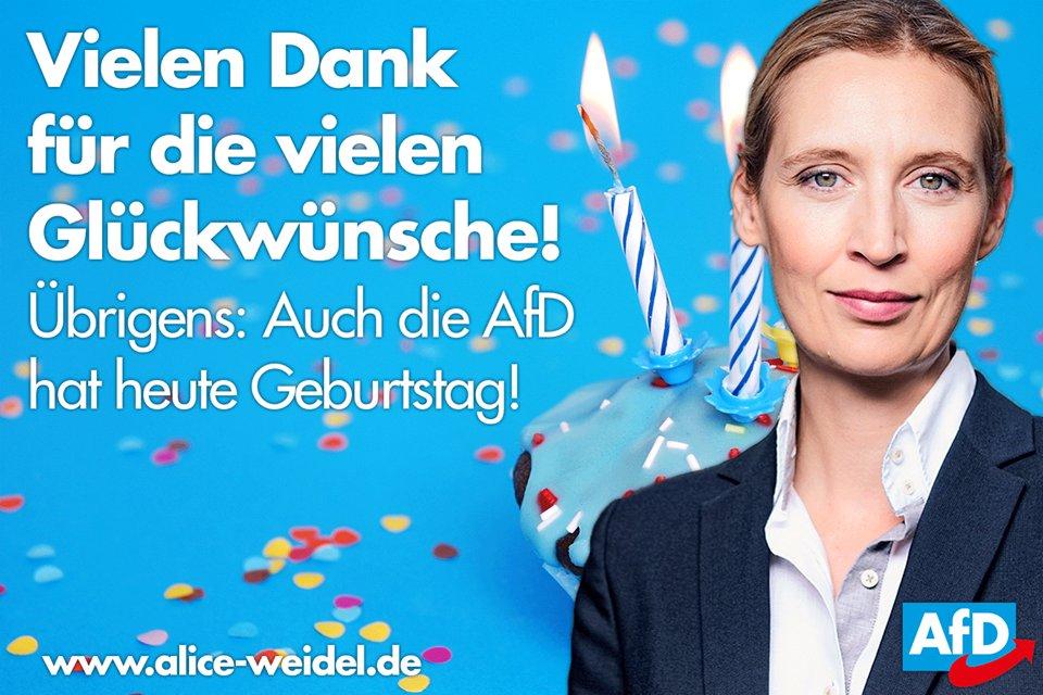 Alice Weidels Tweet Ich Danke Ihnen Und Euch Für Die