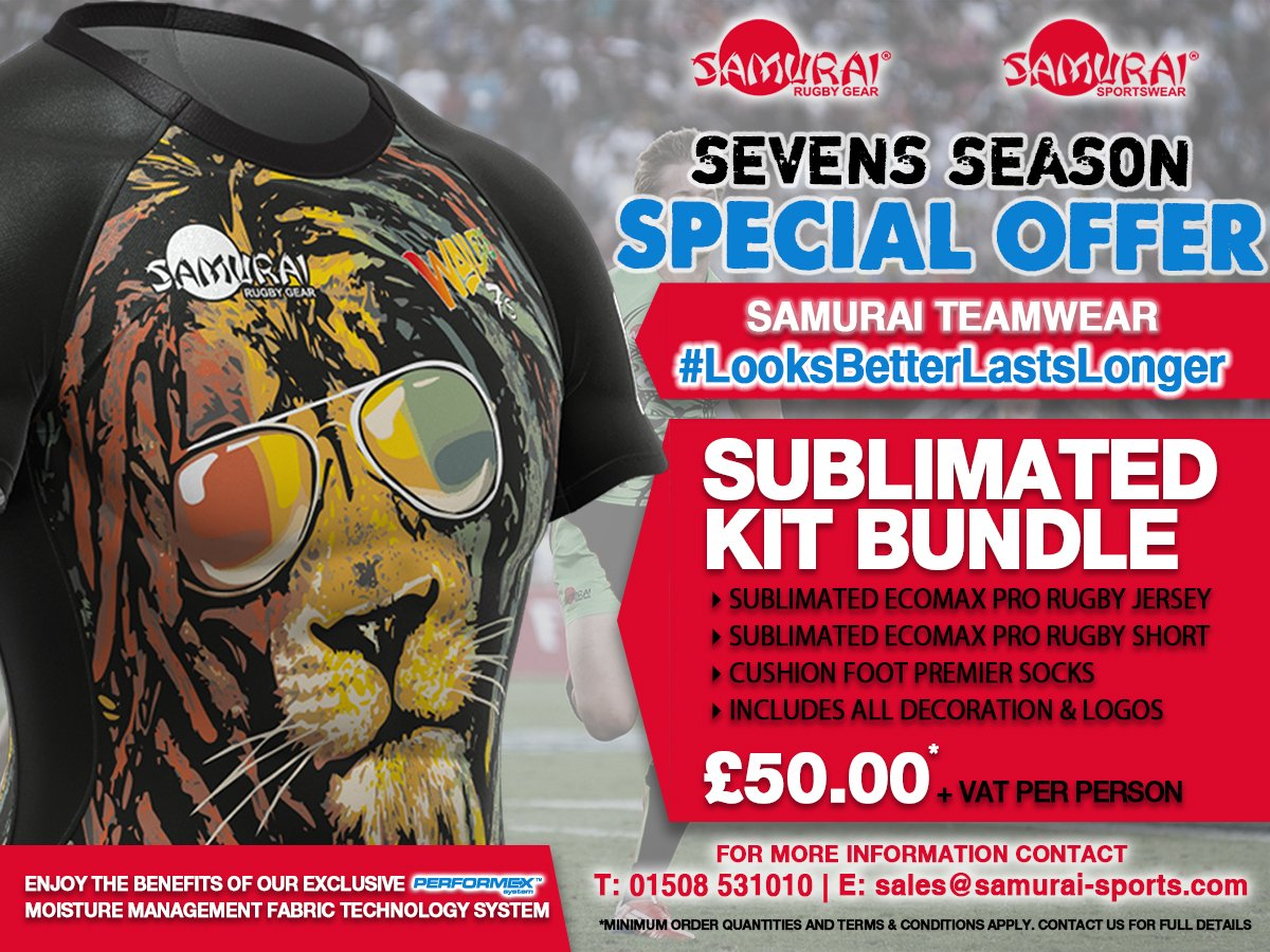 test Twitter Media - Our Sevens Season special offer is here! Don't miss out on this amazing sublimated kit bundle for just £50! Contact us today for more details. #Teamwear #SpecialOffer #LooksBetterLastsLonger https://t.co/fv5v9GVnnS