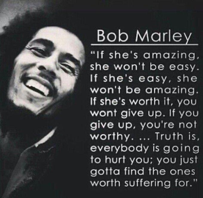 Happy birthday to Bob Marley...not only a wonderful musician but a very intuitive soul.