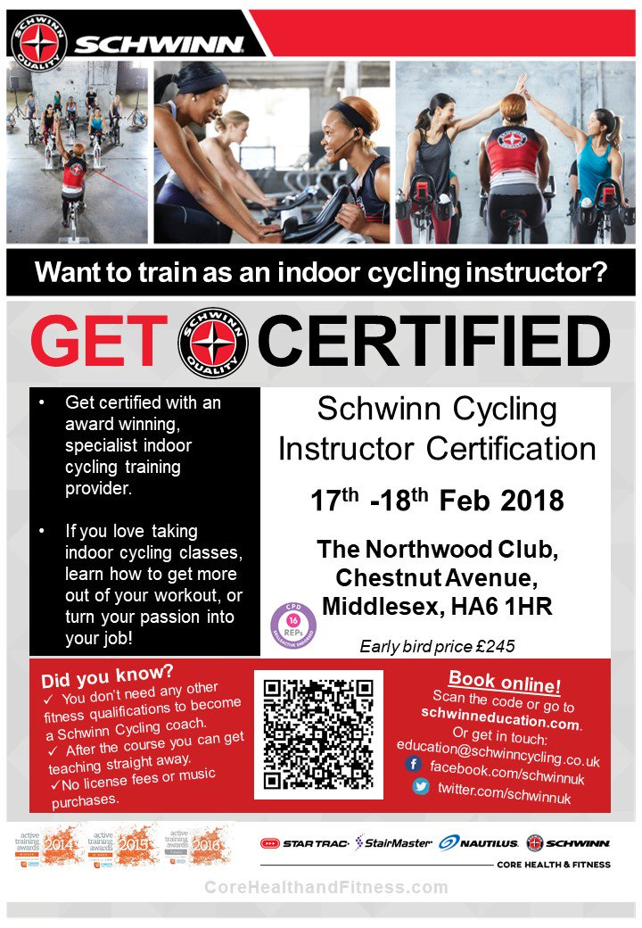 Schwinn Cycling Uk On Twitter Become A Certified Indoorcycling