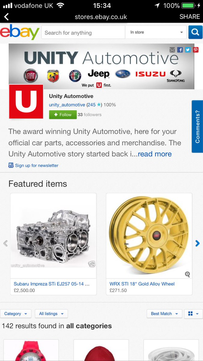 Unity Automotive On Twitter Go Have A Look At Our New Online Ebay Store You Can Purchase Official Merchandise Parts And Accessories Go Take A Look At The Online Store By Going