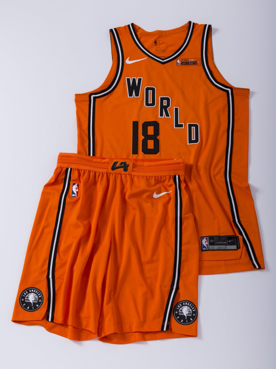 a7f335f6e8b0 The WORLD design pays tribute to Clippers  1970s-era Buffalo Braves  uniforms