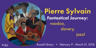 test Twitter Media - The entire community is invited to the opening of Pierre Sylvain Fantastic Journey: Voodoo, Slavery, Jazz exhibit February 9 from 6:00pm – 8:00pm @RussellLibrary  Russell Lib Online Auction Fundraiser Page auctioning 1 of Sylvain's paintings: https://t.co/NcVYFvA1vg until 2/14/18 https://t.co/HshdX62dAC