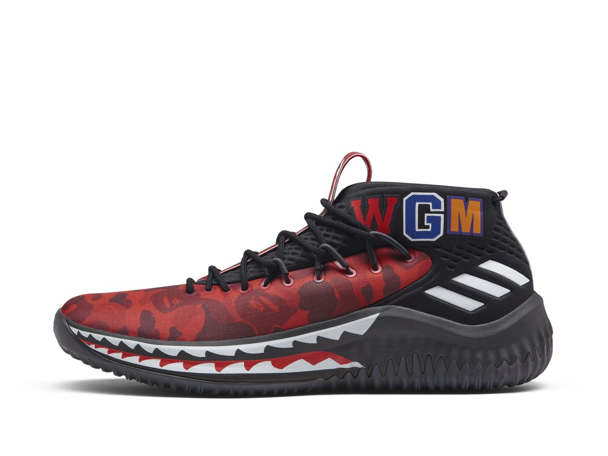 sports shoes 52bc4 27662 ... red, green and black — of Damian Lillard s Dame 4 BAPE collection. Each  will be available for  150 a pair at the  747WarehouseSt event during ...