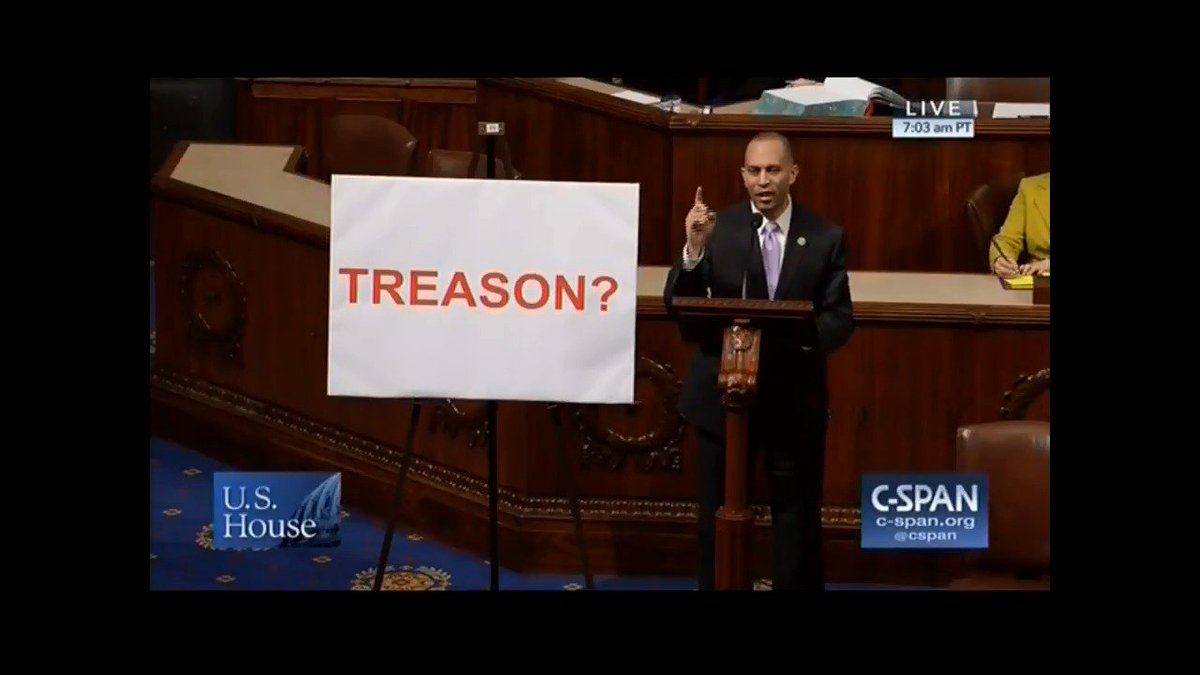 Trump just accused Rod Rosenstein and Andy McCabe of plotting treason.  Is this guy kidding me?  What an unrepentant hypocrite.  May have to update this floor speech I gave last year.