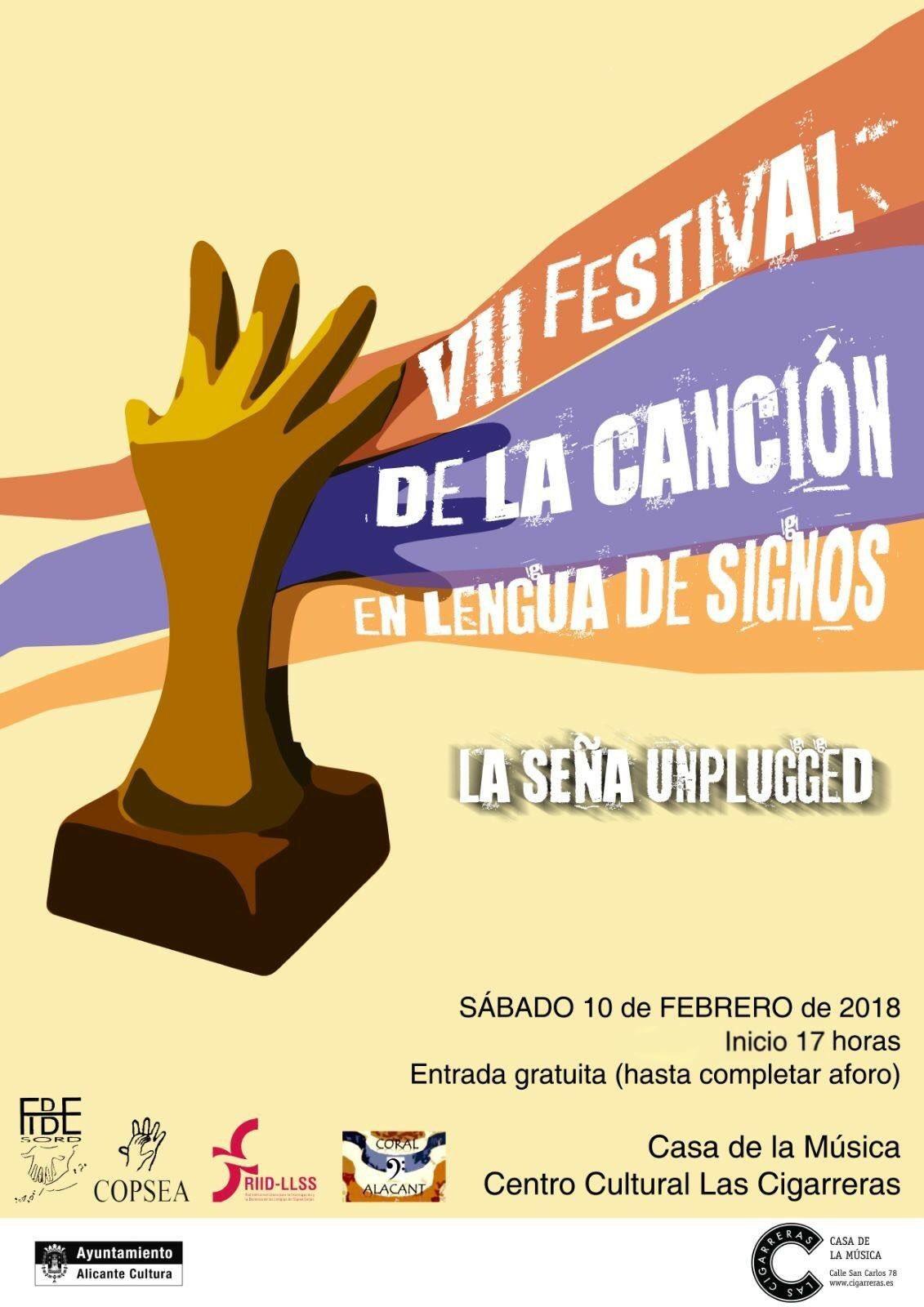 """VII Festival de la Canción en lengua de signos """"La Seña Unplugged"""" - Alicante 10 de feb.'18 DVXjWPjWsAAfG1i"""