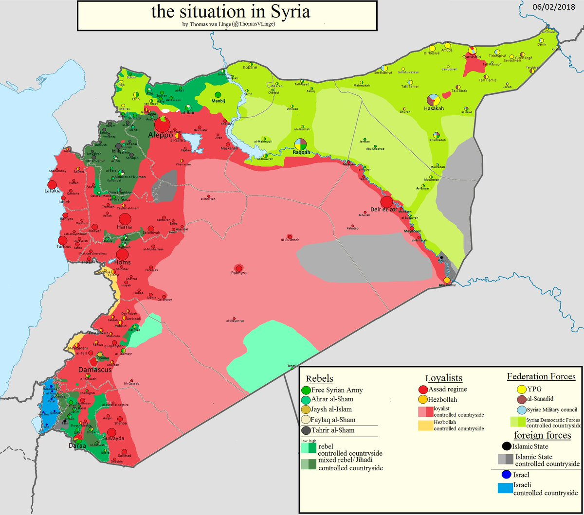 Thomas van Linge on Twitter Syria MAP UPDATE the situation in