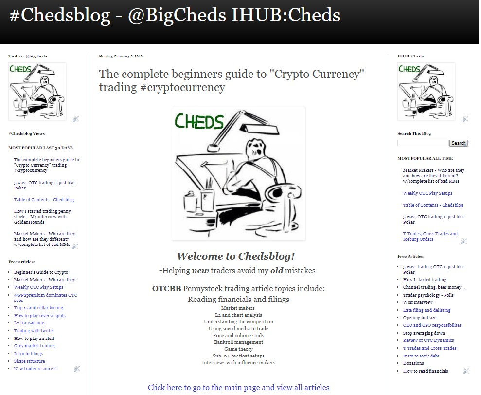 ... #cryptocurrency (3006 Views) #chedsblog  Http://chedstrading.blogspot.com/2018/02/the Complete Beginners Guide To Crypto.html  U2026pic.twitter.com/Xj5E698jOj