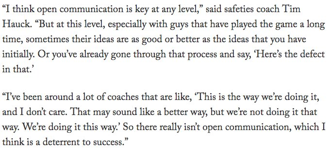 Also did a story on Nov. 17 headlined, 'Pederson, Eagles coaches willing to give players a voice.' No better example than Sunday. What a special coaching staff. https://t.co/NZbsyY6Pfd