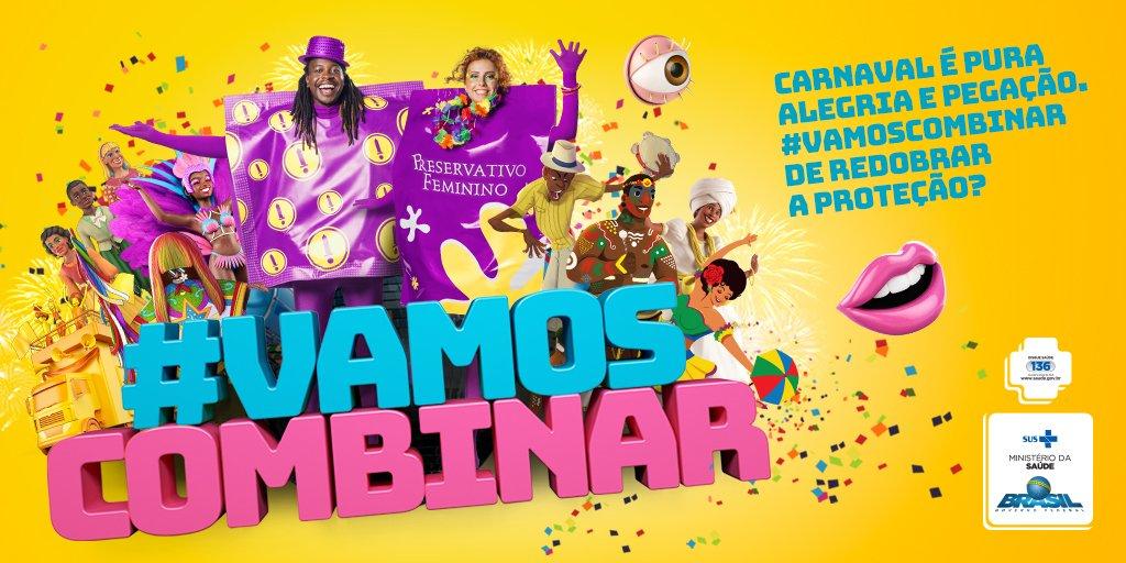 Carnaval é pura alegria e pegação. #VamosCombinar de redobrar a proteção? Entre em https://t.co/oT0E1Pkxm5
