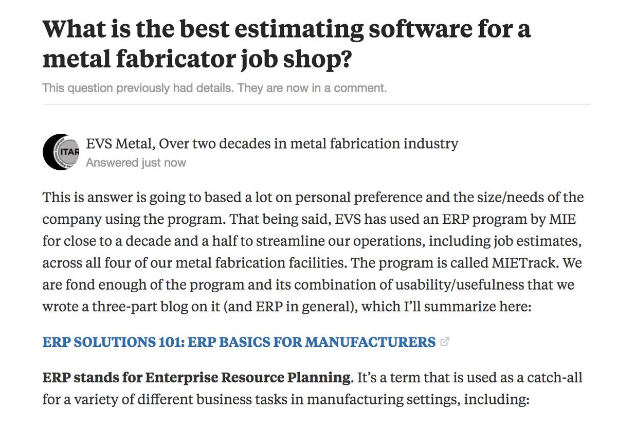 Https Www Quora What Is The Best Estimating For A Metal Fabricator Job Answer Evs Share 9997a5cb Pic Twitter Ah6bonwkuz