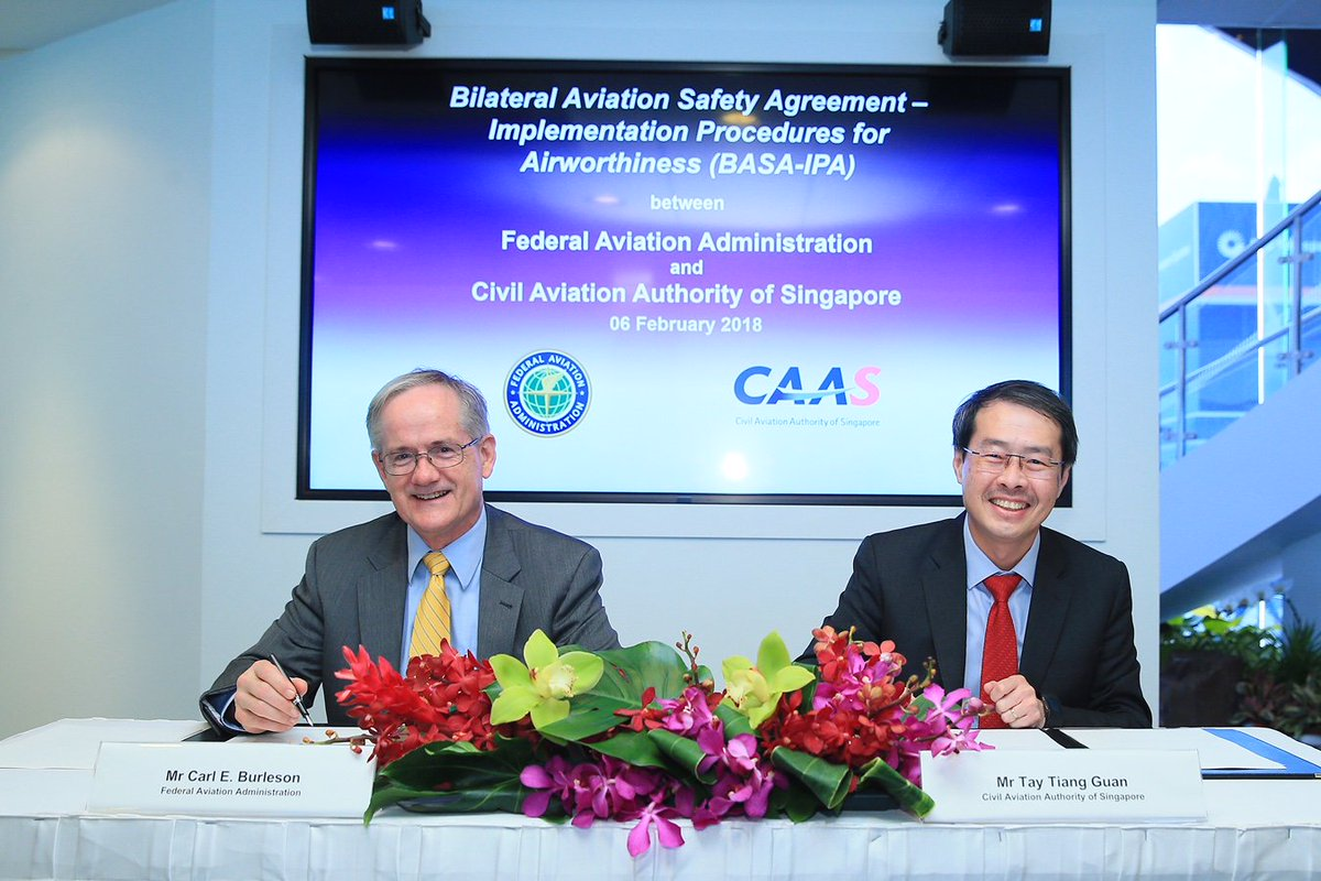 The Faa On Twitter The Faa And Singaporecaas Signed A Revised