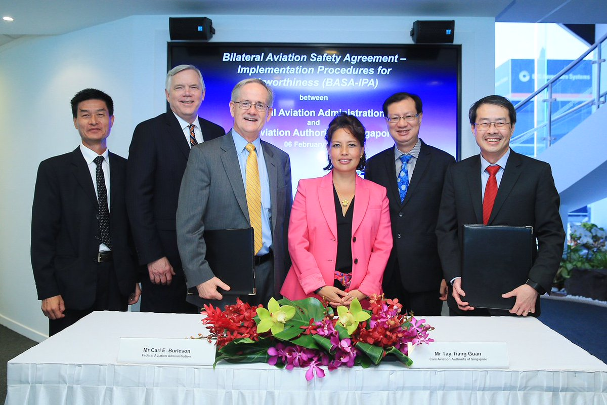 The faa on twitter the faa and singaporecaas signed a revised the faa on twitter the faa and singaporecaas signed a revised bilateral aviation safety agreement to enhance the long standing cooperation in platinumwayz
