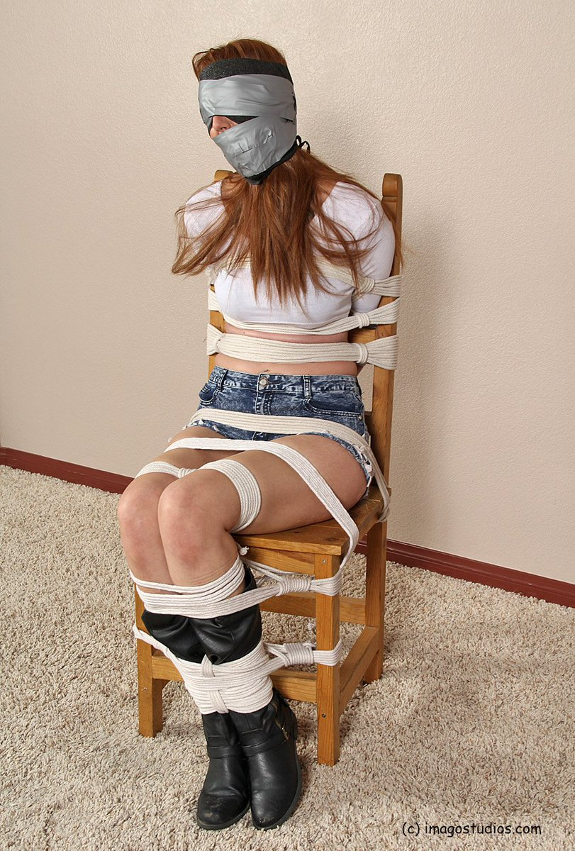 Jean shorts bondage tied