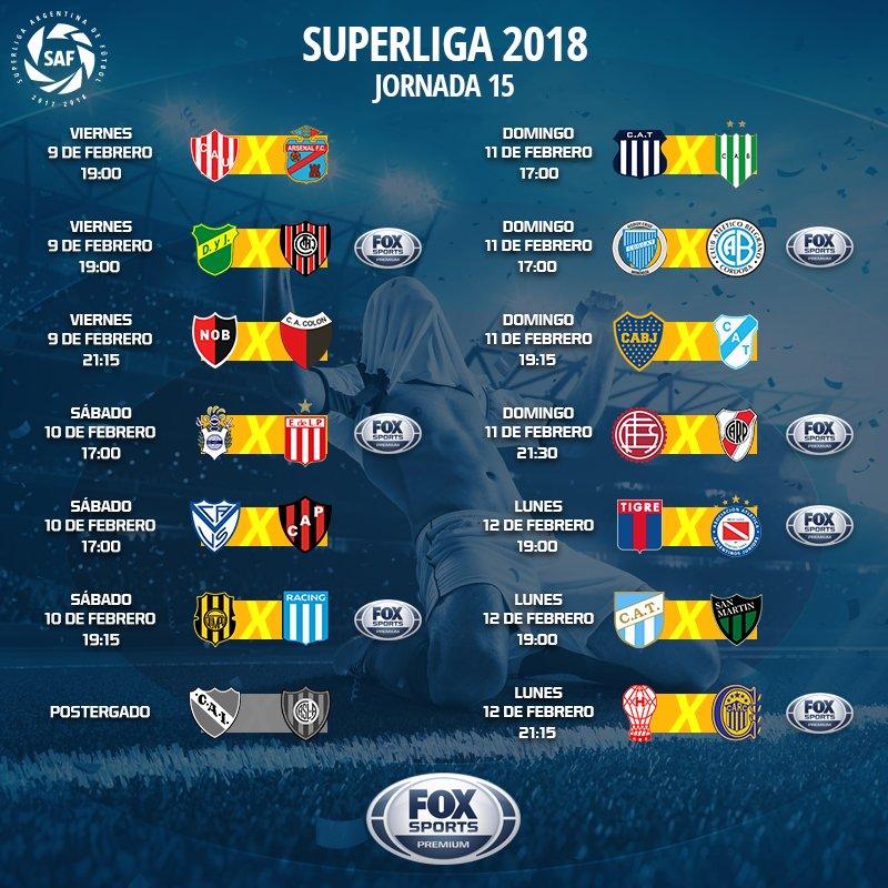 Calendario Fox.Fox Sports Argentina V Twitter Asi Va La Fecha 15
