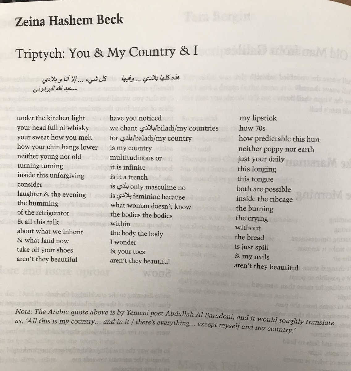Zeina Hashem Beck On Twitter Thrilled To Have This Triptych In Poetry London Read It Vertically Horizontally Arrived In My Inbox Today A Valentine Gift This A Love Poem Too