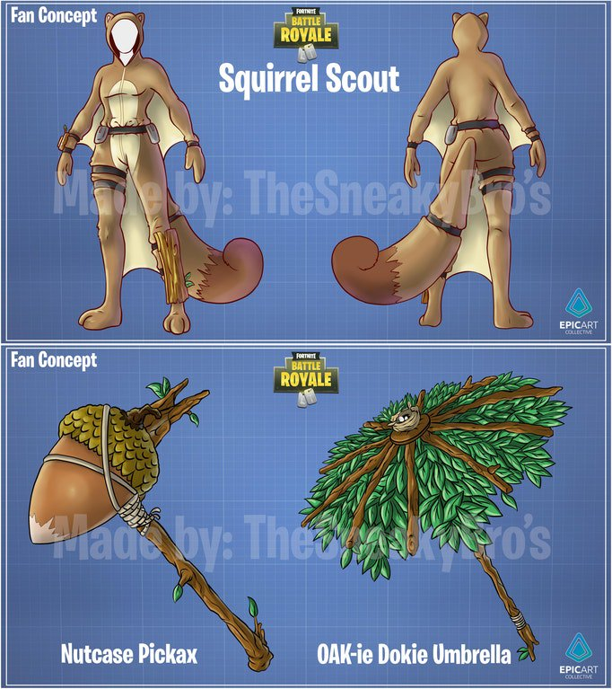 Concept New Flying Squirrel Skin And Crazy Pickaxe With