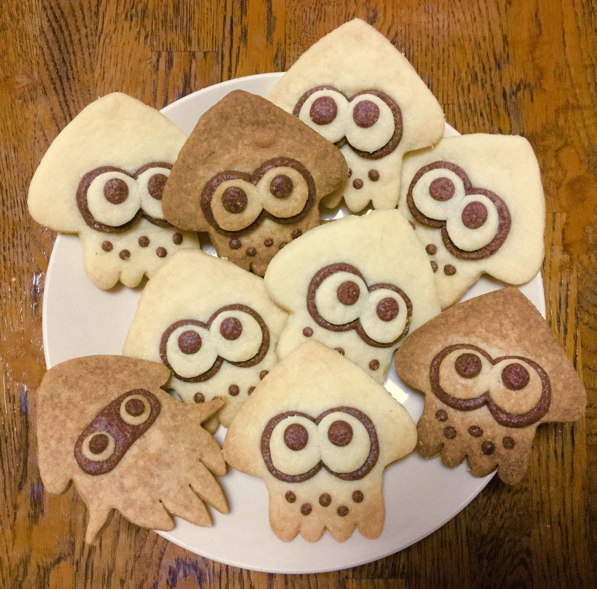スプラトゥーンのクッキーをつくりました イカちゃんがたくさん…!?