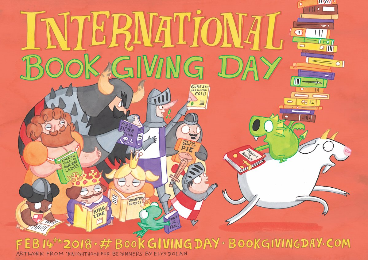 Its International #BookGivingDay. Whether its one book or a boxful; second-hand or brand-spanking-new; picture-packed or just words, words, words, heres YOUR chance to share the joy of reading. Find out more at: bookgivingday.com @bookgivingday #SaveLibraries