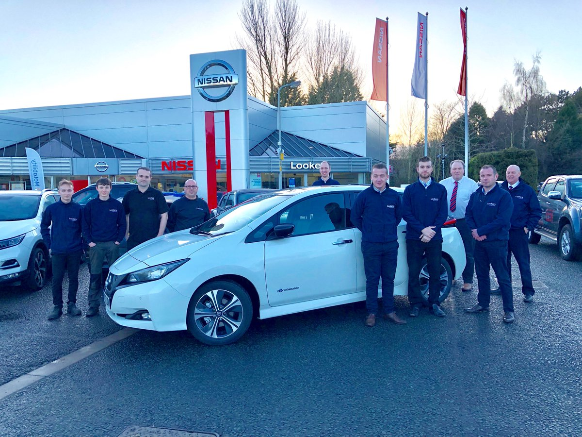 Thanks so much @LookersNissan in Carlisle for welcoming us so warmly at the end of another day on the road on the all-new #NissanLEAF tour! https://t.co/gQtaJdlTZi https://t.co/UnRQSmxZSc