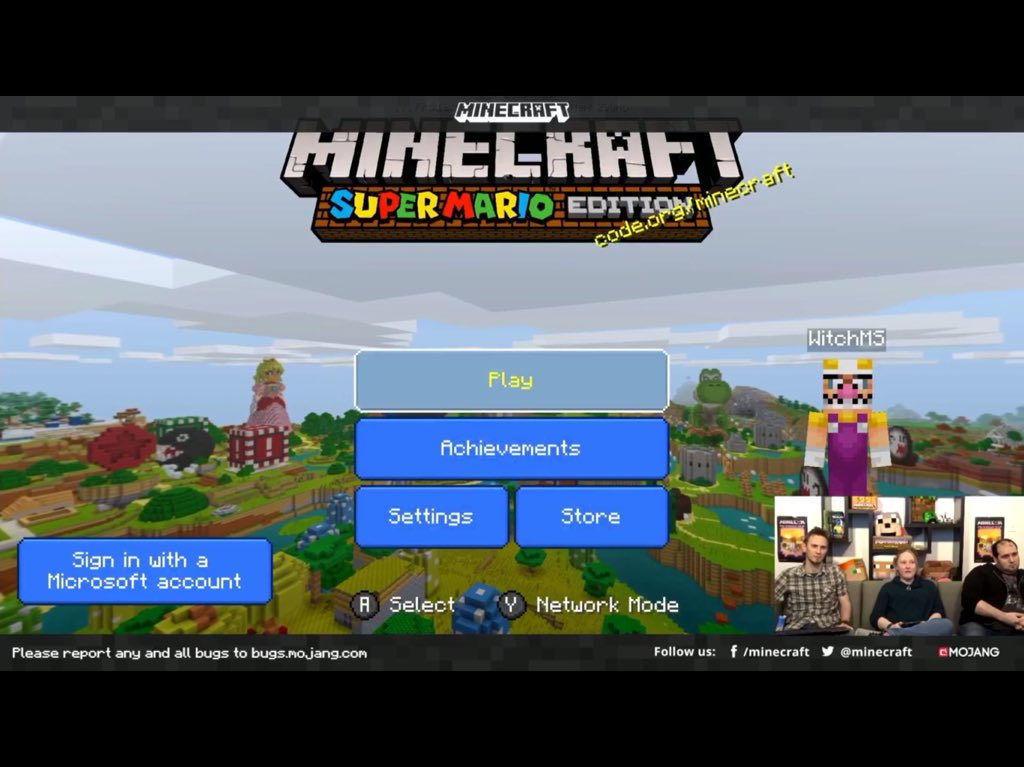 cant sign into microsoft account on minecraft switch