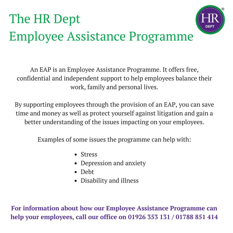 Having an Employee Assistance Programme in your business can really make a difference!