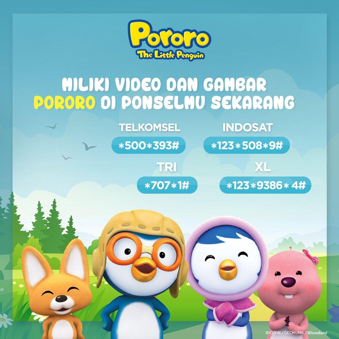 Ayo, miliki video dan foto Pororo di ponsel kamu. Video yang akan kamu dapatkan sudah berbahasa indonesia loh. Selain itu, gambar-gambar lucu Pororo dan teman-teman juga. Yuk, tekan nomornya sesuai provider yang kamu gunakan di ponselmu. https://t.co/jAPvOmZCVZ
