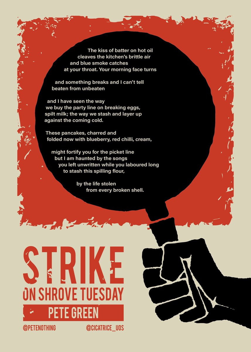 Two of our dearest contributors @ohaaayes and @petenothing collaborated on this piece in support of the @ucu strikes @sheffielducu #USS #strikeforuss #pancakeday2018 <br>http://pic.twitter.com/MI1Fi8c6hw