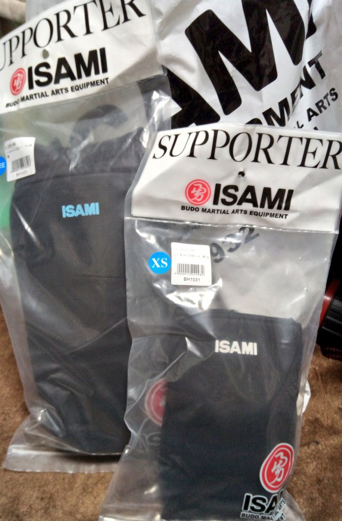 #ISAMI 様より、練習で使うサポーターを提供して戴きました。早速本日の練習に使いました😆いつもありがとうございます!  #ISAMI #東京イサミ