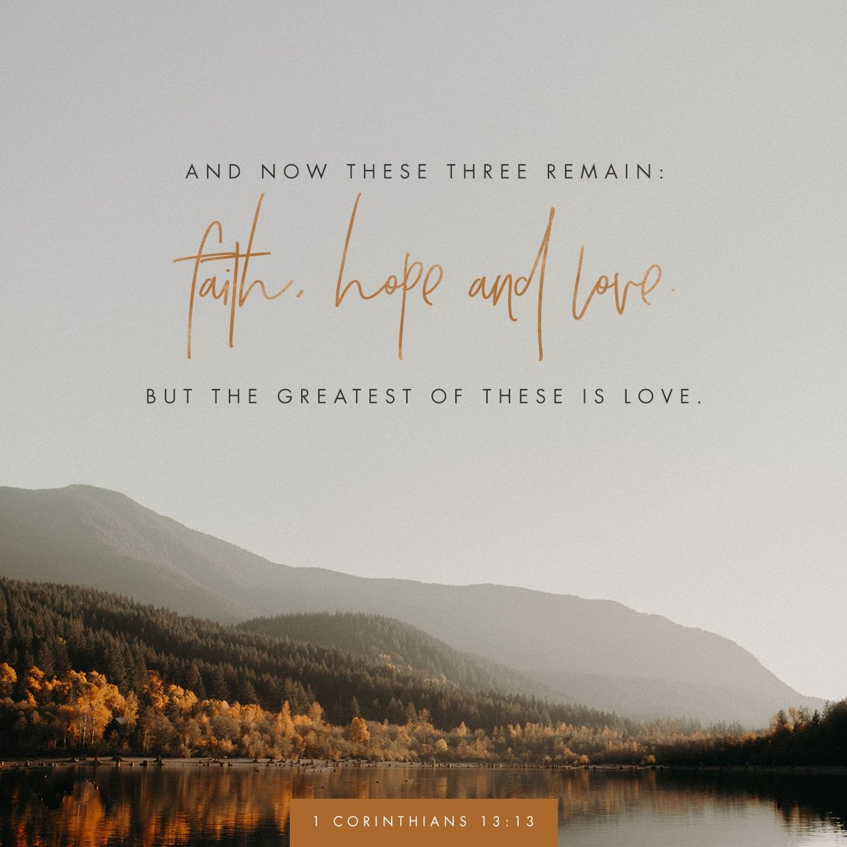 and the greatest of these is love verse