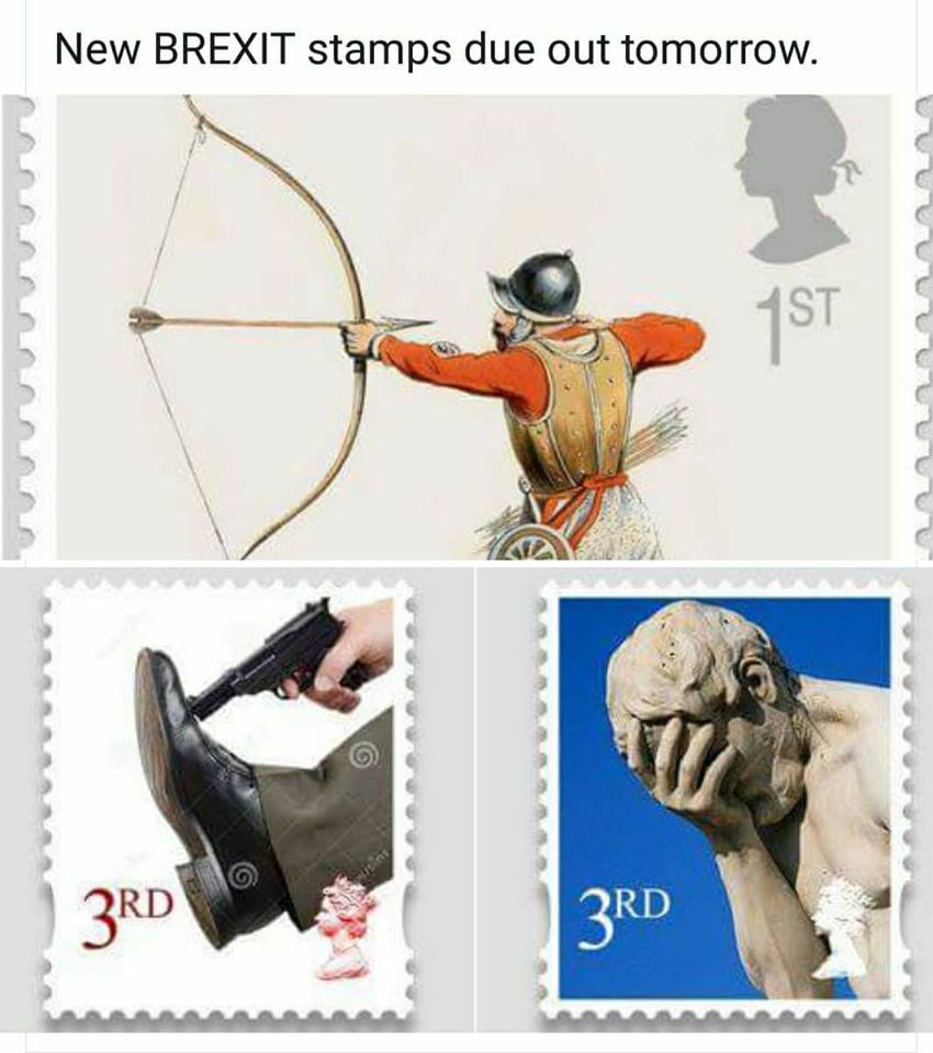 UK releases new #Brexit stamps