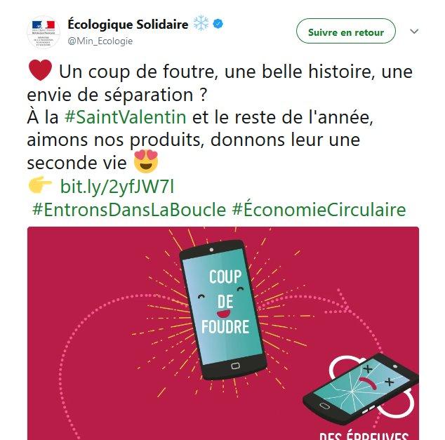 BEST. TWEET. EVER. Merci @Min_Ecologie  #CoupDeFoutre #SaintValentin <br>http://pic.twitter.com/9zVxqfrS97