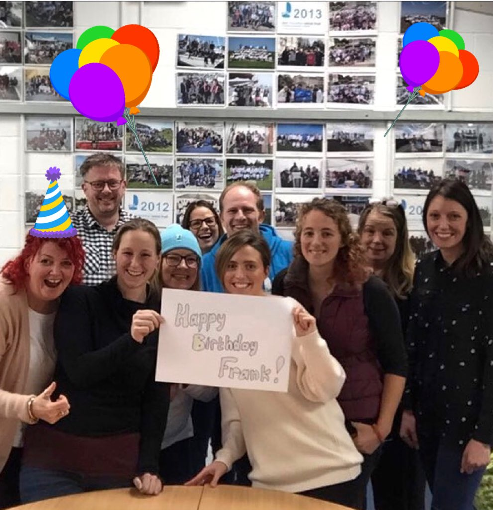 On behalf of everyone at the Trust we would like to wish our amazing CEO @frankfletcher a very Happy Birthday!