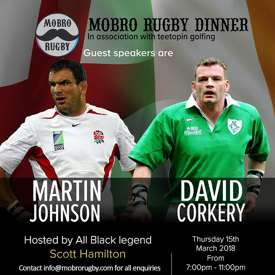 test Twitter Media - Don't miss out on the @MoBroRugby Dinner! 15/03/18 from 7-11pm, London. £225pp or £2000 tables of ten. Tickets include welcome drinks, exclusive three course meal with wine and a Charity raffle including top tickets for the England vs Ireland game! Contact the club for more info. https://t.co/34avHkb2WL