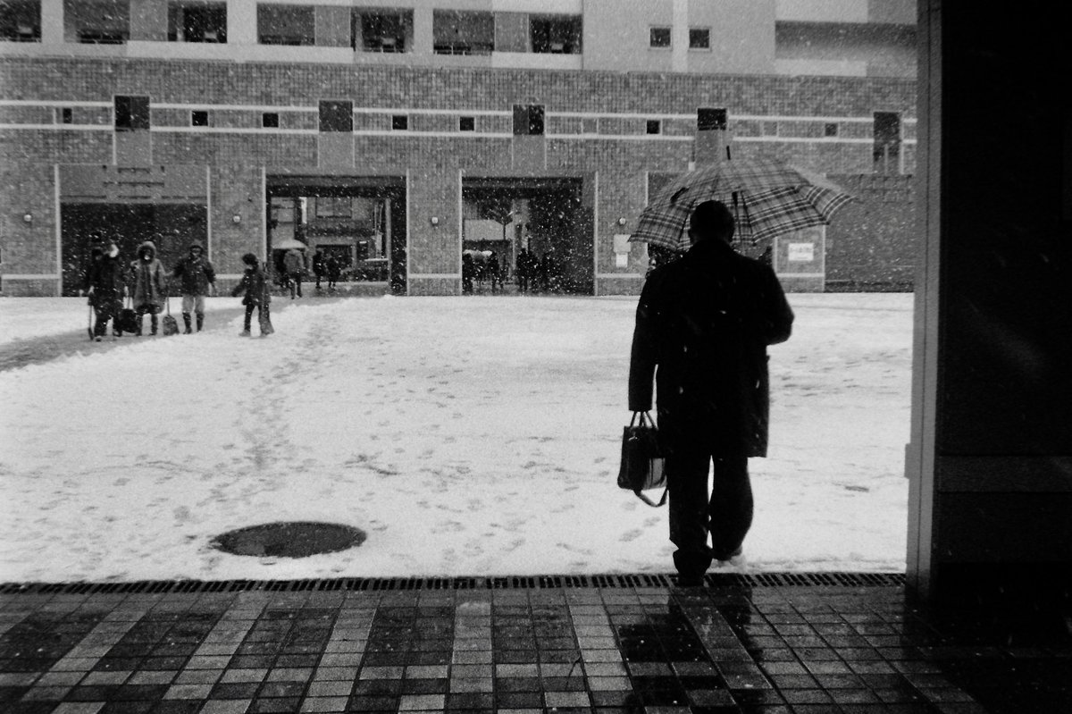 雪の日。  #xa2 #orwo100