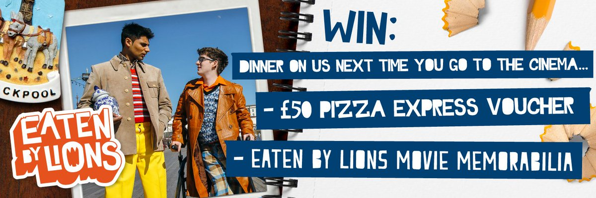 #WIN! 🎥 £50 Pizza Express voucher 🍕 PLUS Eaten by Lions movie memorabilia 🦁 HOW TO ENTER the #Competition >>> Follow @EatenByLionsUK the Movie 🎬 RT and Reply with your answer to the question 'who plays Ray in Eaten by Lions?' 👉 eatenbylions.com #WinItWednesday