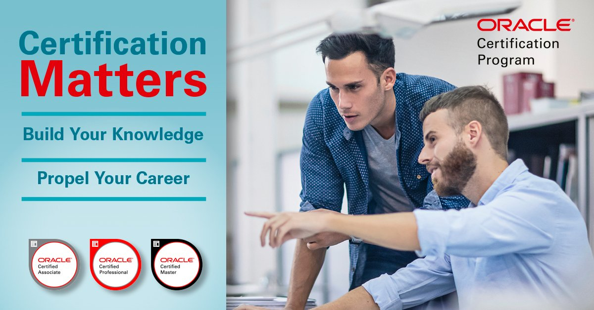 Oracle Certification On Twitter Why Certification Matters 87