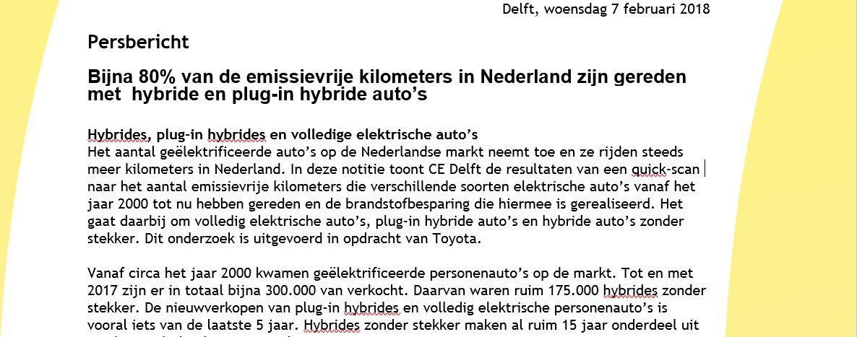 Ce Delft On Twitter Persbericht Bijna 80 Van De Emissievrije
