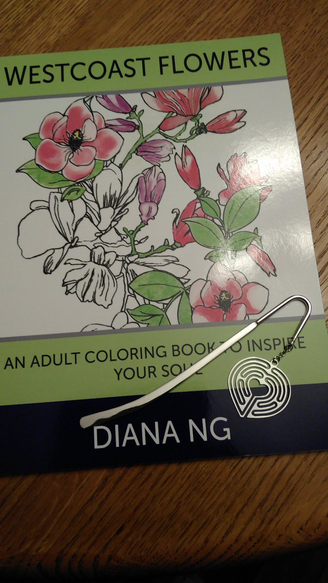Diana LabyrinthLady On Twitter A Heart Shaped Finger Labyrinth Bookmark And My Westcoast Flower Coloring Book For Nature Lovers