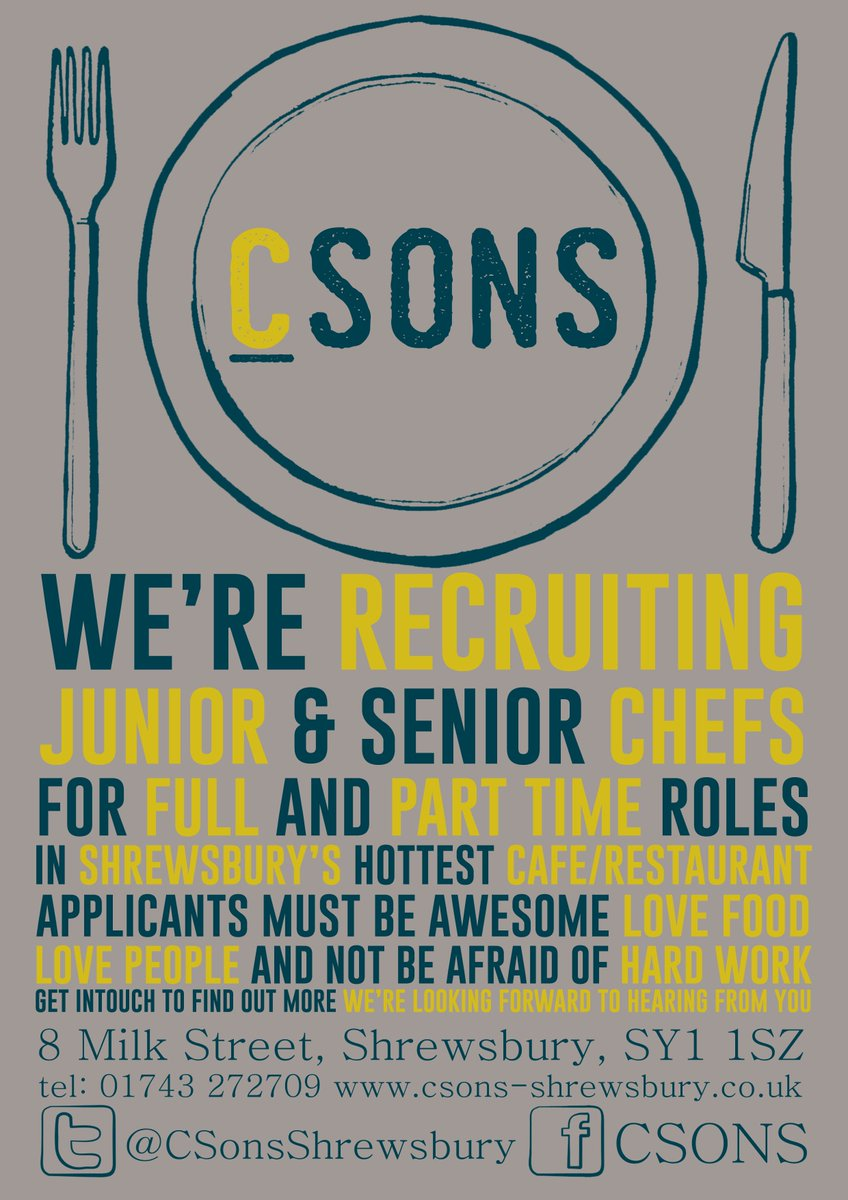 Csons On Twitter We Re Recruiting Ft Pt Junior And