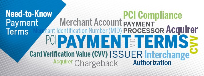 list of payment terms