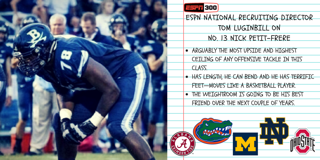 The #1 OT is about to sign his National Letter of Intent.  Who gets him?  Tune to ESPNU!