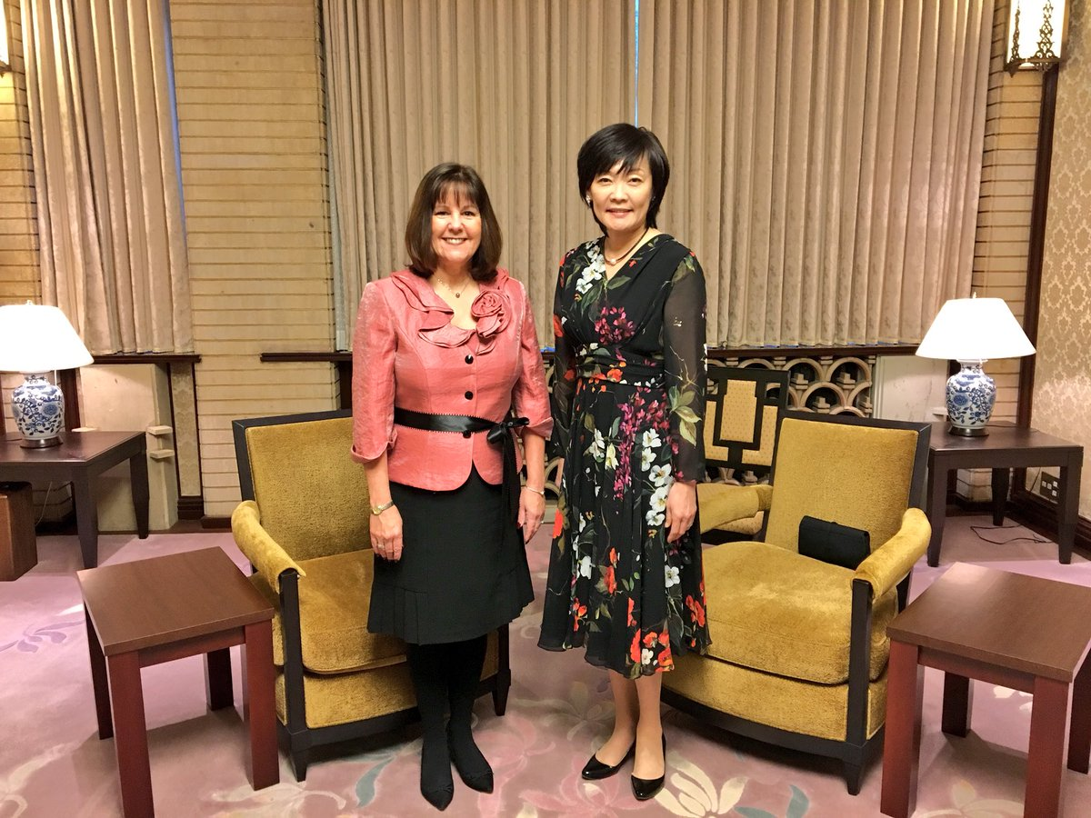 Enjoyed meeting Mrs. Akie Abe, the wife of the Prime Minister of Japan.