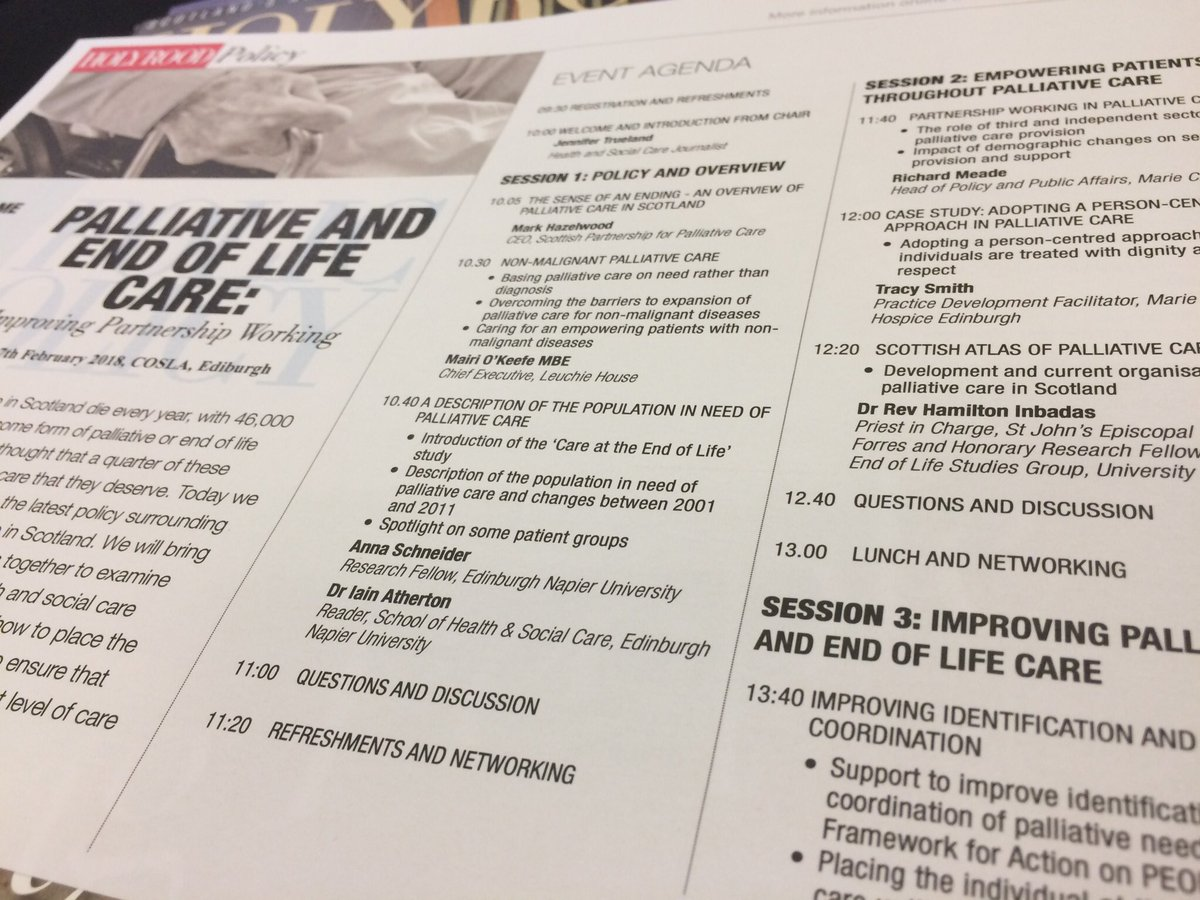 Palliative and End of Life Care: Improving Partnership Working