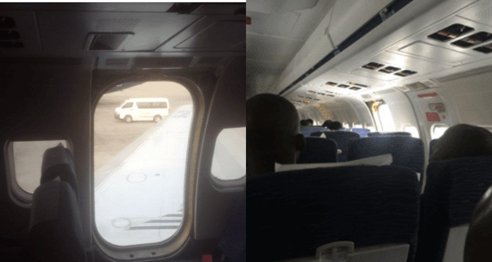 There is currently a pandemonium at Nnamdi Azikiwe Aiport, Abuja, as passengers scramble for safety when the door of Dana aircraft fell off.