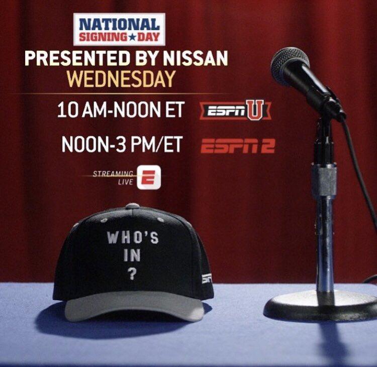Join us at 10 am ET on @ESPNU for #NationalSigningDay