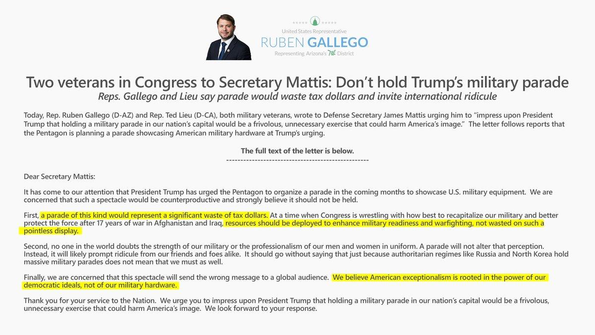 Votevets On Twitter Letter To Defense Sec Mattis