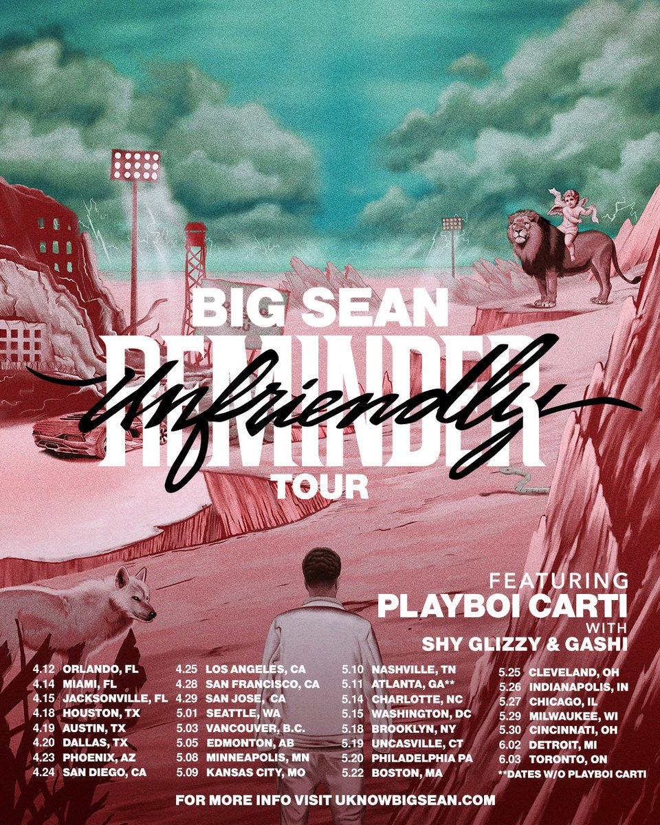Can't wait to see y'all on the road, face to face. Don't forget... YOU choose my setlist! ……. And I'm taking @playboicarti @ShyGlizzy &  wit@G4SHIh me. Tour finna go crazy! #UnfriendlyReminderTour
