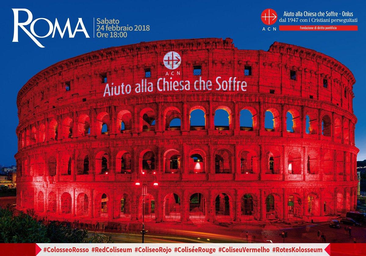Il Colosseo 'tinto' di rosso: @acs_italia punta i fari sui cristiani perseguitati https://t.co/4Dkp4Dt3Yo #ColosseoRosso